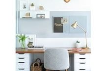 Home Office Decor Ideas / Home decor ideas for working at home folk. Some inspired design ideas for you to blend your workplace with a great home environment.