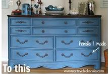 Painted and mod podge furniture-what transformations! / painted furniture / by Gail Kedsch