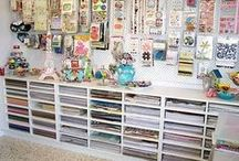 CRAFT ROOM-ORGANIZATION / Craft room set up ideas. / by Susan Bertucci