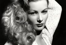 Hair Hollywood Glamour style: Veronica Lake / Love hair that is parted on the side, as I work to achieve, and with waves. Very glam