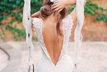 bridal dress/gown  >//< / bride bridal gown dress wedding bohemian rustic style fashion designer lace white off white fabric