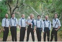 groomsmen >//< / groom groomsmen gentlemen gents tuxedo tux suspenders button up loafers men clothing style fashion