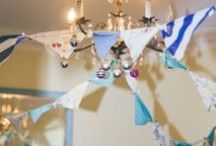 bunting >//< / bunting hang decor wedding fabric cloth banner flags design style