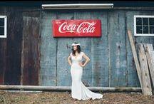 coca-cola >//< / coca-cola coke theme wedding style southern design center pieces