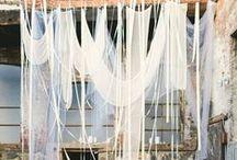 fabric >//< / fabric lace burlap draping draped style rustic boho bohemian wedding hang