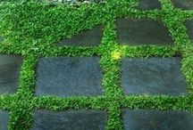Golvet i trädgården-gardenfloors / Vackra golv i trädgården