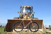 myFix / my personal bike, fixed bike, frame covered in teak wood