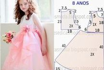 ✂--children's clothing--✂ / ChILd DresS 1 to 10 Years with Measures-