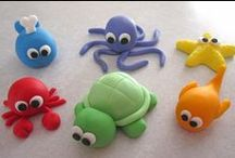 Clay Crafts / model making, clay, play dough ideas