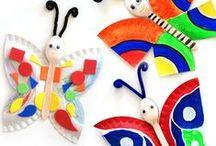 Crafts, model making / paper plates, lollipop sticks, tissue paper etc