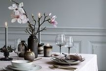 Table Inspirations / Dress your table or use it like a blackboard.