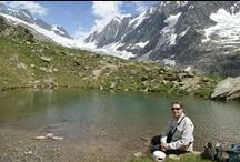 Vacation in Switzerland / Hiking tour in the canton des Grissons, Valais.  Skiing in Geimen, Valais.