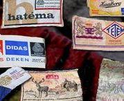 Vintage Blankets Manufacturer Labels / Vintage woolen Blankets with Manufacturer Label found in our collection