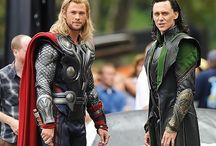 Loki & Thor / Tom & Chris bromance / Tom Hiddleston and Chris Hemsworth Loki and Thor