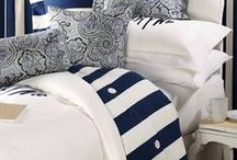 Navy Blue and White