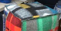 creatief met oude dekens - upcycled woolen blankets (pillows, bags......) / creatief met oude dekens -  reuse of old blankets -  Was man aus alten Wolldecken machen kann