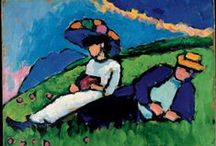 Gabriele Münter / Gabriele Muenter. A student of Wassily Kandinsky, member of Der Blaue Reiter (The Blue Rider), a Munich group of Expressionist painters.