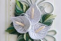 quilling - kompozycje kwiatowe i roślinne
