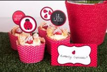 Ladybug Party Theme & Decorations / Party Ideas, Printables and Products for that extra cute Ladybug Theme!  All available in our online store.