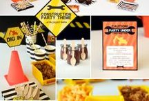 Construction Party Theme & Decorations / Awesome Construction Themed Party Ideas, Printables & Products for a young boy's birthday party!