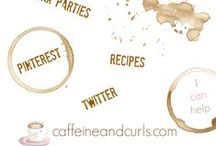 Caffeine & Curls / Pins that I use to create round-ups, and link clients up to link parties.