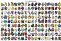 Gemstones, Minerals, Crystals & Rare Earth Elements / Gemstones, Minerals & Crystals 1)A Gemstone is a piece of mineral cut & polished to produce art, jewelry or other adornments. 2)A Mineral is a naturally occurring substance that is solid & stable at room temperature, represented by a chemical formula. 3)A Crystal is a solid material whose atoms/molecules are arranged in an ordered pattern extending in all 3 spatial dimensions. jewel, crystal, element, rock, earth, baguette, bauble, bead,birthstone, brilliant, gem, sparkler, stone. 4)Rare Earth E