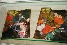 palettes / palettes, paletas (Bachmors artist selection, Saatchi art)