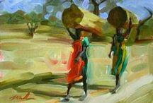 Present-day artists / Картины современных художников, которые понравились мне / paintings that i liked