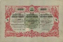 Železnice, místní dráhy, tramvaje - Cenné papíry - Scripophily - Historische Wertpapiere / Akcie a požitkový list železnic a místních drah z období Rakouska-Uherska, Československa, Protektorátu Čechy a Morava.  Historické cenné papíry (akcie, dluhopis, obligace, podílový list, požitkový list, kuksový list) - Scripophily (Stocks and Bonds Certificates) - Historische Wertpapiere (Aktie, Schuldschein, Anleihe, Kassenschein, Schatzanweisung, Genussschein, Interimsschein, Kuxschein)