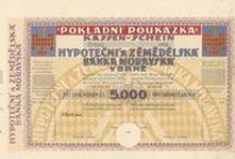 Pokladniční poukázky, bony - Cenné papíry - Scripophily - Historische Wertpapiere / Pokladniční poukázky a bony. Historické cenné papíry (akcie, dluhopis, obligace, podílový list, požitkový list, kuksový list) - Scripophily (Stocks and Bonds Certificates) - Historische Wertpapiere (Aktie, Schuldschein, Anleihe, Kassenschein, Schatzanweisung, Genussschein, Interimsschein, Kuxschein)