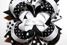 kwiaty - wstążeczki, koronka, tkanina