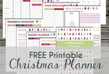 Christmas Printables / Christmas printables for kids. Christmas printable planner, printable gift list.