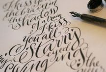 Calligraphy / Calligraphy lettering and font ideas, letter forms, and projects.