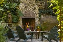★Outdoor fireplace / by ~♥~M u r i e l ~♥~
