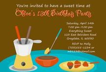 Chocolate Themed Party Ideas / chocolate party Ideas • chocolate invitation ideas • chocolate cake ideas • chocolate decoration ideas • chocolate party supplies • chocolate party favor ideas and more!