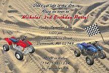 ATV 4 Wheeler Party Ideas / atv party ideas • atv invitation ideas • atv cake ideas • atv decoration ideas • atv party supplies • atv party favor ideas and more!