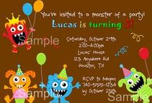 Monster Party Ideas / monster party ideas • monster invitation ideas • monster cake ideas • monster decoration ideas • monster party supplies • monster party favor ideas and more!
