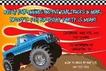 Monster Truck Party Ideas / monster truck party ideas • monster truck invitation ideas • monster truck cake ideas • monster truck decoration ideas • monster truck party supplies • monster truck party favor ideas and more!