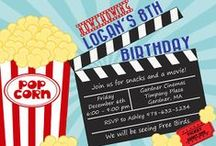 Movies Themed Party Ideas / movies party ideas • movies invitation ideas • movies cake ideas • movies decoration ideas • movies party supplies • movies party favor ideas and more!
