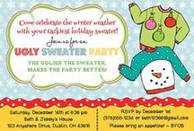 Christmas Party Invitations / Christmas Party Invitations, Ugly Sweater Christmas Party Invitations, Ugly Sweater Party Invitations, Cookie Swap Party Invitations, Personalized Christmas Party Invitations, Holiday Party Invites, Christmas Party Ideas