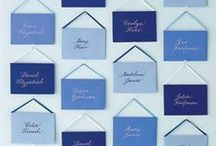 Seating Card Displays / Fun ways to display seating, table, and escort cards for your wedding or other event.