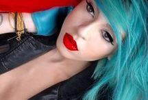 BLUE/GREEN Hair / Hair colors inspired by the color BLUE and Green and anything in the between shades / by Bree Schmidt