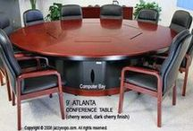 Executive Conference Tables by jazzyexpo.com / Executive Conference Tables made out of wood veneer that has the option of data ports for your modern office. Call jazzyexpo.com sales at 760-727-1190 x 1