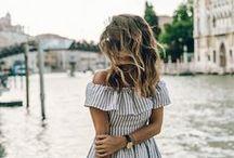 SUMMER / Nautical stripes, bright colors, beach, sun, happiness.