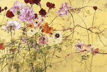 Claire Basler / Wonderful paintings of flowers and foliage.