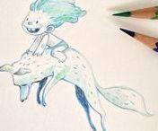 Sketch / Sketchbook, pencil, ink, digital.