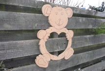 Teddy Mirror / Loving Teddy Bear wall mirror Ideal for in your children's room or hall way.