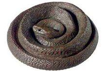 snake sculptures