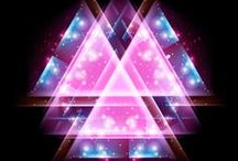 Space, trend, Fashion, pattern /   Space,  disco, design, stripes, triangle, blur, line, bright, creature, star, night, background, light, graphic, space, kaleidoscope, fashion, glittering, abstract, modern