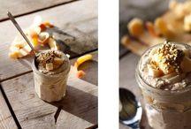 Heerlijke ontbijtvariaties / Biogarde, appel, granaatappelpitjes en lijnzaad